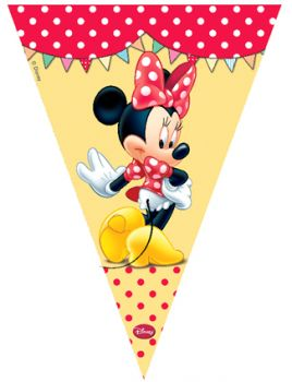 Minnie Mouse Baskılı Konsept Parti Flama Bayrak