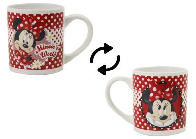Diğer - Minnie Mouse Desenli Çift Taraflı Porselen Kupa Bardak