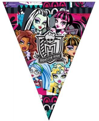 Diğer - Monster High Kız Çocuklar İçin Flama Bayrak