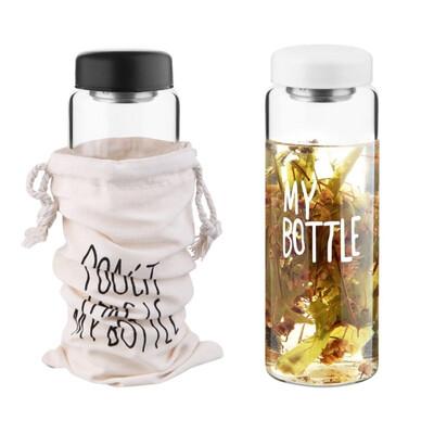 Diğer - My Bottle Kılıflı Cam Detox Matarası 500ml Asorti