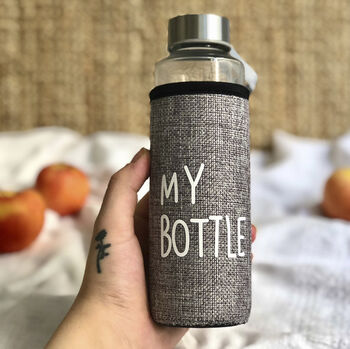 My Bottle Kılıflı Cam Su Matarası 400ml Asorti