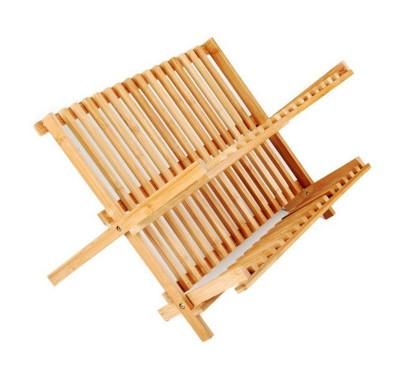 Naturel Bambu Tabaklık ve Bulaşık Sepeti 39x33cm - Thumbnail