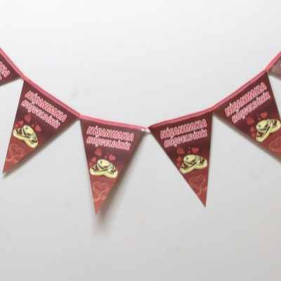 Diğer - Nişanımıza Hoşgeldiniz Yazılı Flama Bayrak
