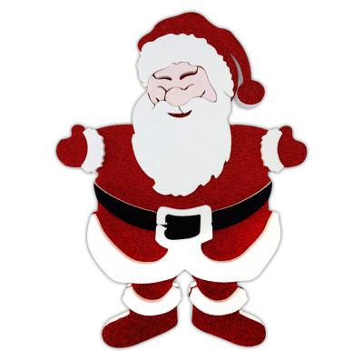 Diğer - Noel Baba Figürlü Strafor Yılbaşı Kapı Duvar Süsü
