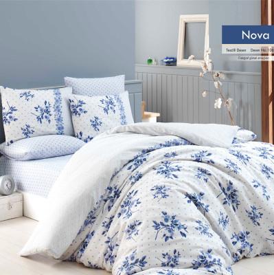Diğer - Nova Poly Cotton Tek Kişilik Nevresim Takımı Mavi