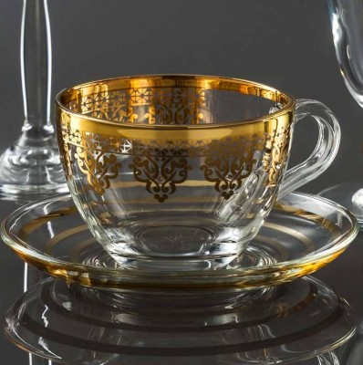Diğer - Ottoman Altın Yaldızlı Cam Fincan Takımı 6 Kişilik
