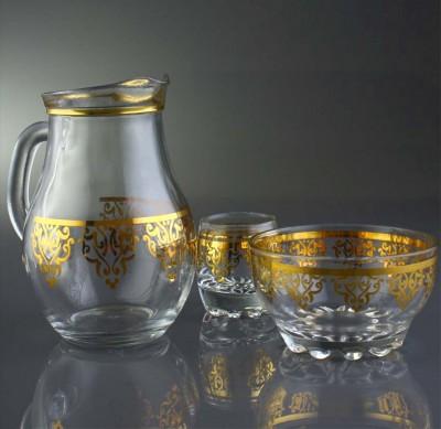 Diğer - Ottoman Altın Yaldızlı Zemzem Takımı
