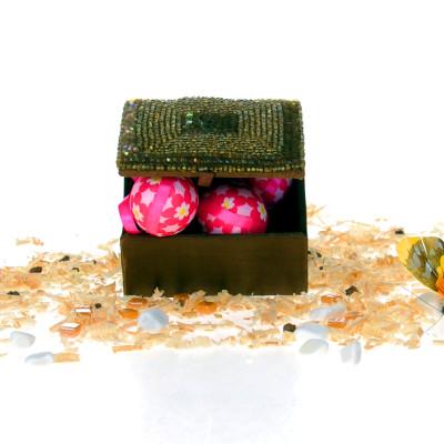 Diğer - Özel Tasarım Mücevher ve Hediye Kutusu 10cm Kahverengi