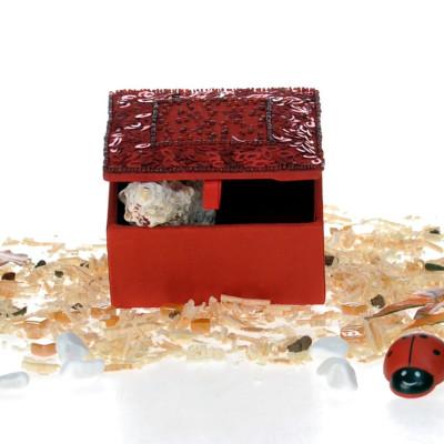Diğer - Özel Tasarım Mücevher ve Hediye Kutusu 10cm Kırmızı
