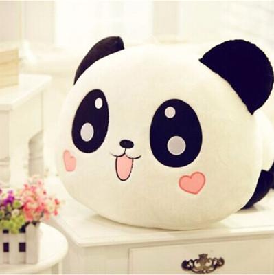 Panda Tasarımlı Sevimli Peluş Yastık 30cm - Thumbnail
