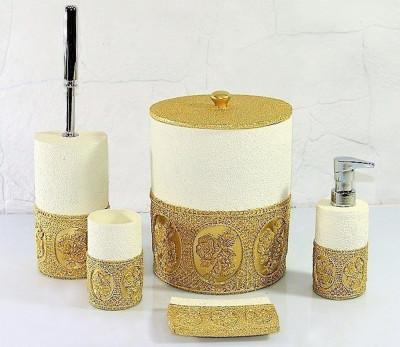 Diğer - Papatya Lüks Banyo Takımı 5 Parça Gold