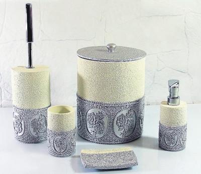 Diğer - Papatya Lüks Banyo Takımı 5 Parça Gümüş