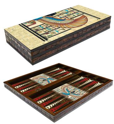 Diğer - Papirüs Tasarımlı Tavla Takımı 50cm
