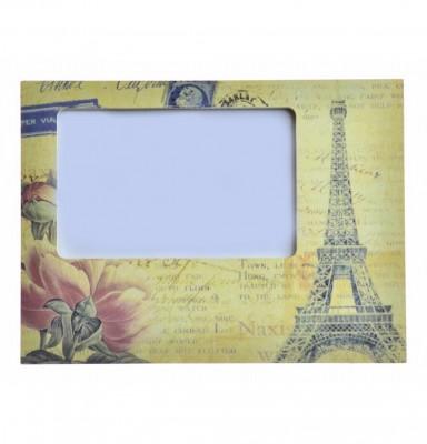 Decotown - Paris Temalı Dekoratif Ahşap Fotoğraf Çerçevesi
