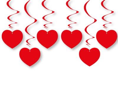 Diğer - Parlak Kalpler Asma Sarkıt Süs Kırmızı