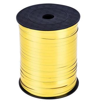 Parlak Metalik Şerit Rafya 8mmx200mt Gold
