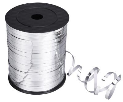 Parlak Metalik Şerit Rafya 8mmx200mt Gümüş - Thumbnail