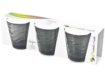 Paşabahçe - Paşabahçe 3lü Origami Meşrubat Bardağı Füme 245cc