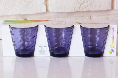 Paşabahçe 3lü Origami Meşrubat Bardağı Lila 245cc - Thumbnail
