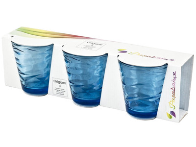 Paşabahçe - Paşabahçe 3lü Origami Meşrubat Bardağı Mavi 245cc