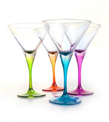 Paşabahçe - Paşabahçe 4lü Renkli Martini Bardağı 250cc