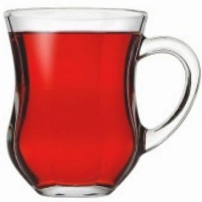 Paşabahçe - Paşabahçe Dem 6lı Kulplu Optik Çay Bardağı