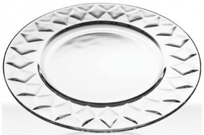 Paşabahçe - Paşabahçe Kristal FD Baklava Desenli Servis Tabağı