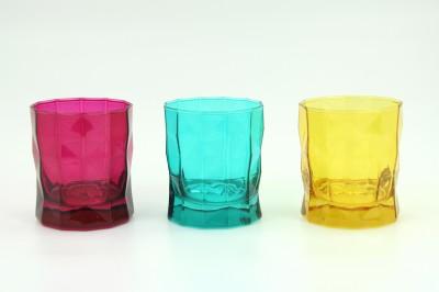 Diğer - Paşabahçe Prizma 3lü Renkli Küçük Boy Meşrubat Su Bardağı