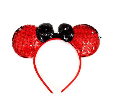 Diğer - Payet Pullu Mickey Çocuk Tacı Kırmızı
