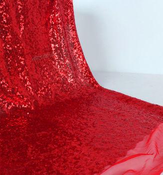Payet Kumaş Parti Masa Örtüsü 1 Metre Kırmızı