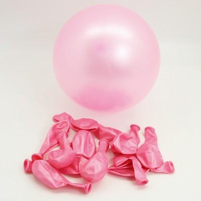 Diğer - Pembe Renkli Metalik Süsleme ve Parti Balonu 20li