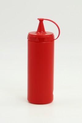 Diğer - Plastik Sızdırmaz Kapak Sos Şişesi 400ml Kırmızı