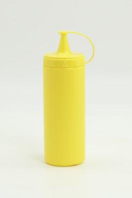 Diğer - Plastik Sızdırmaz Kapak Sos Şişesi 400ml Sarı