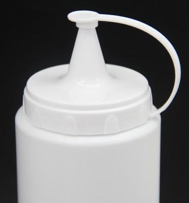 Plastik Sızdırmaz Kapak Sos Şişesi 700ml Beyaz - Thumbnail
