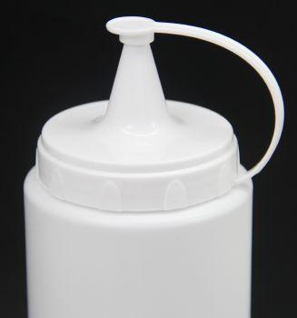 Plastik Sızdırmaz Kapak Sos Şişesi 700ml Beyaz