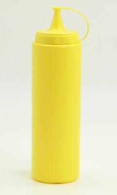 Diğer - Plastik Sızdırmaz Kapak Sos Şişesi 700ml Sarı