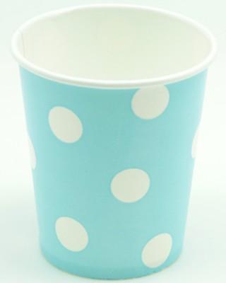 Diğer - Puantiyeli Karton Parti Bardağı Mavi 10 Adet