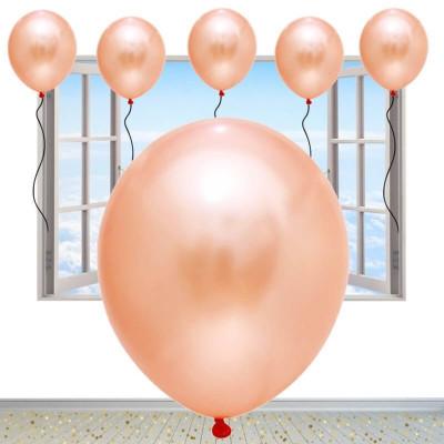 Diğer - Pudra Renkli Metalik Süsleme ve Parti Balonu 20li