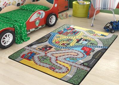 Confetti - Race Yarış Pisti Desenli Çocuk ve Bebek Odası Oyun Halısı 100x150cm