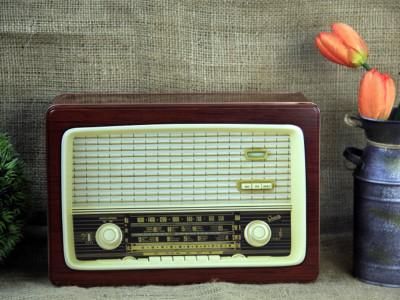 Diğer - Radyo Tasarımlı Dikdörtgen Metal Saklama Kutusu 30cm