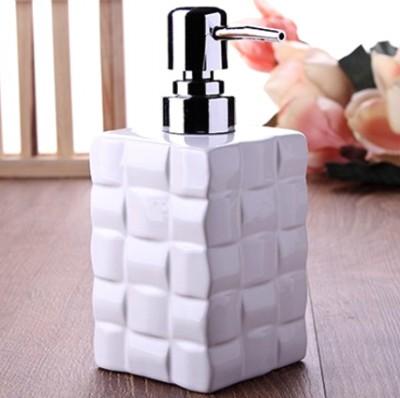 Diğer - Rattan Desenli Modern Tasarım Porselen Sıvı Sabunluk 15cm