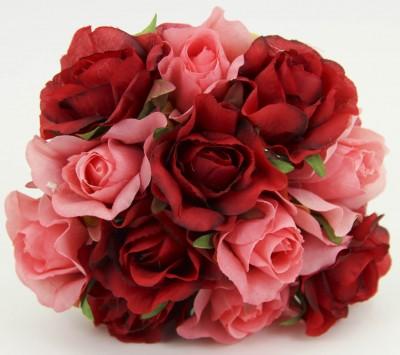 Diğer - Rengarenk Yapay Çiçek Gelin Eli Buketleri Kırmızı