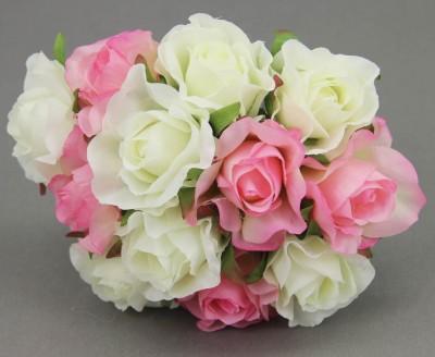 Diğer - Rengarenk Yapay Çiçek Gelin Eli Buketleri Pembe