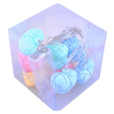 Diğer - Renkli Kalpler 10lu Led Dekor Işığı 1.5 Metre