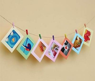 Diğer - Renkli Mandallı İpli Fotoğraf Albümü