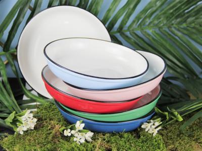 Diğer - Renkli Stoneware Derin Tabak 20cm Asorti