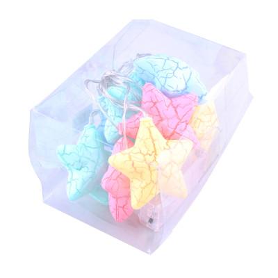 Diğer - Renkli Yıldızlar 10lu Led Dekor Işığı 1.5 Metre
