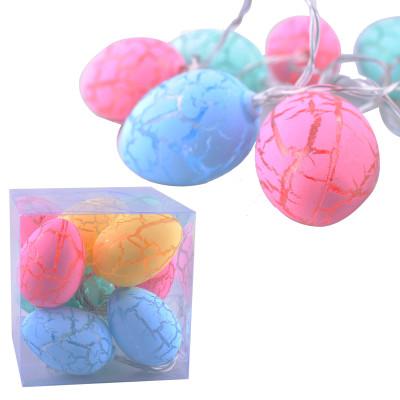 Diğer - Renkli Yumurtalar 10lu Led Dekor Işığı 1.5 Metre