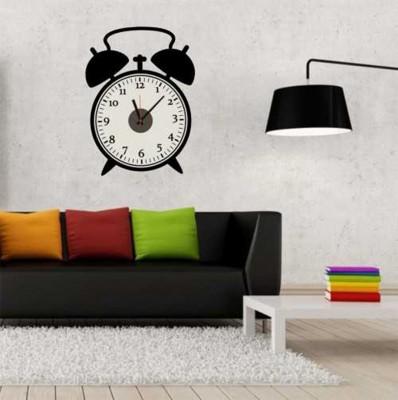 Diğer - Retro Saat Tasarımlı Duvara Yapışan Sticker Saat