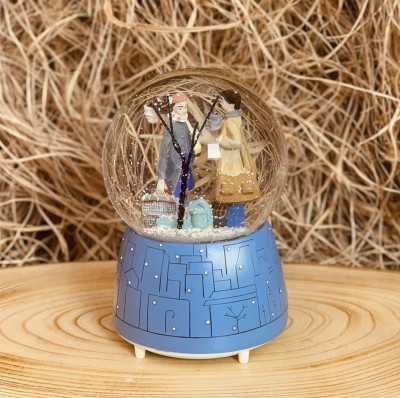 Diğer - Romantik Sonbahar Işıklı ve Müzikli Kar Küresi 11,5cm